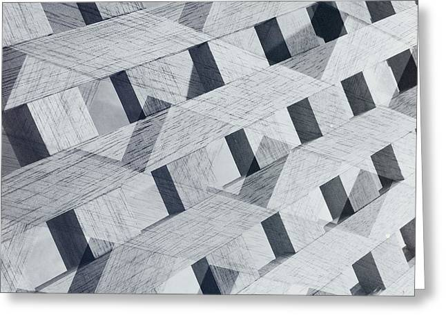 Geometric Effect Greeting Cards - Untitled 20150822 Greeting Card by Marco Oliveira