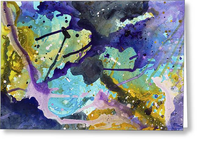 Abstract Shapes Greeting Cards - Untitled 81 Greeting Card by Maria Meester