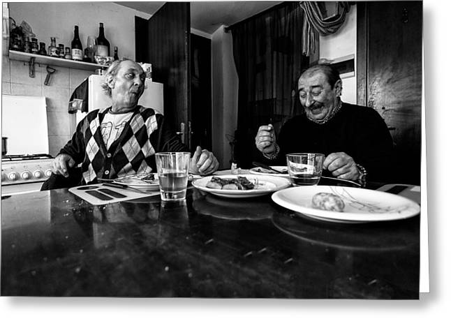 People Greeting Cards - Untitled Greeting Card by Alessio Bongiorni