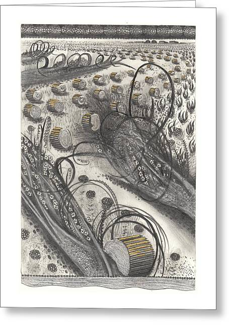 Untitled Bale Landscape Greeting Card by  Hipkiss