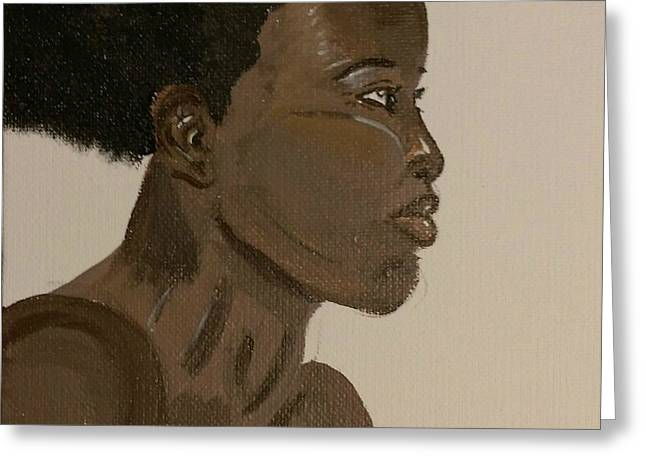 African-american Greeting Cards - Untitled Greeting Card by Dalia Doubleyou