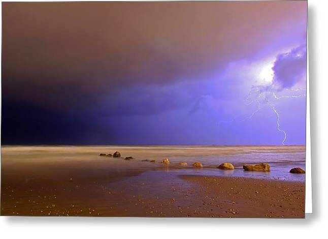 Lightning Greeting Cards - Untitled Greeting Card by Eyal Bussiba