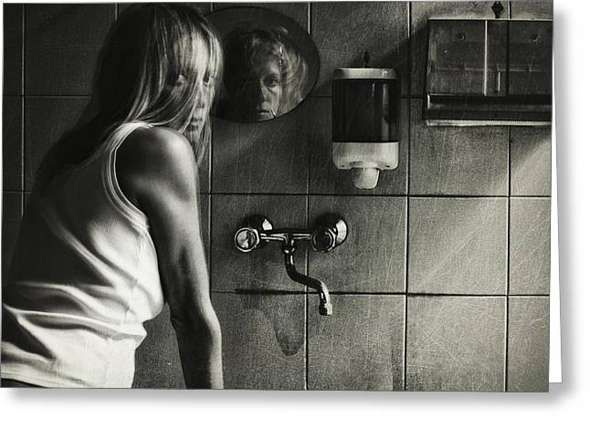 Mirrors Greeting Cards - Untitled Greeting Card by Stefano Miserini