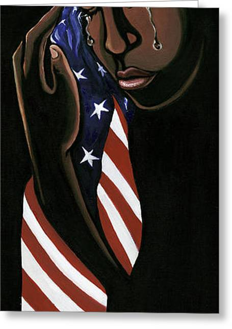 Patriotism Paintings Greeting Cards - Untitled Greeting Card by Toni  Thorne