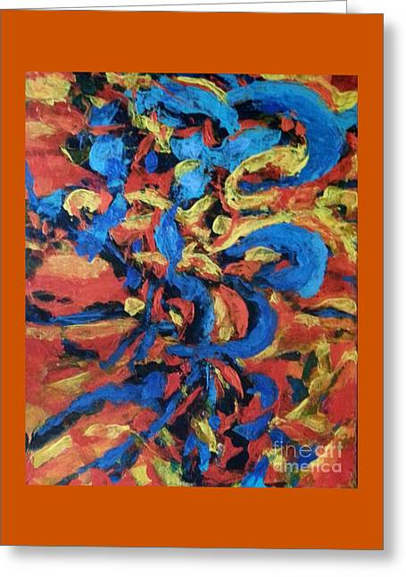 Abstract Expressionist Greeting Cards - Untying Knots Greeting Card by Patty Mowatt