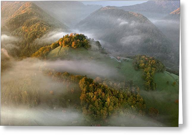 Autumn Morning Greeting Cards - Unveiling Greeting Card by Matjaz Cater