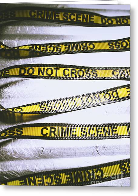 Unwrapping A Murder Investigation Greeting Card by Jorgo Photography - Wall Art Gallery