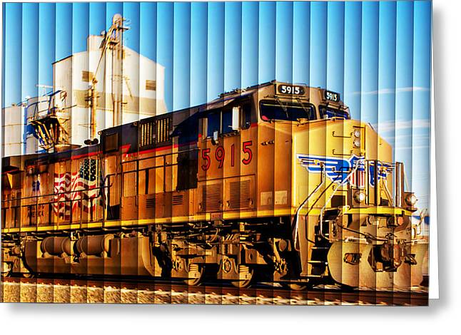 Bill Kesler Greeting Cards - UP 5915 At Track Speed Greeting Card by Bill Kesler