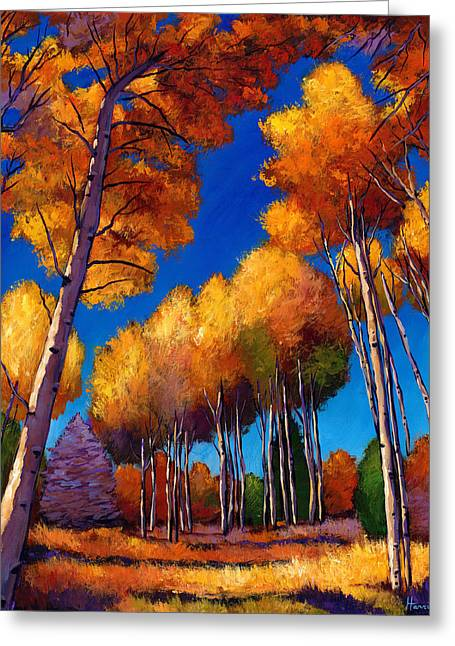 Yellow Autumn Greeting Cards - Up and Away Greeting Card by Johnathan Harris