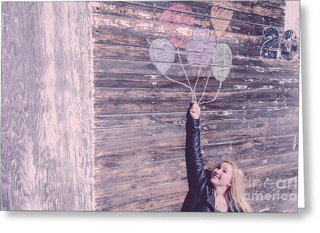Creative Photography Greeting Cards - Up and Away Greeting Card by Lisa Killins