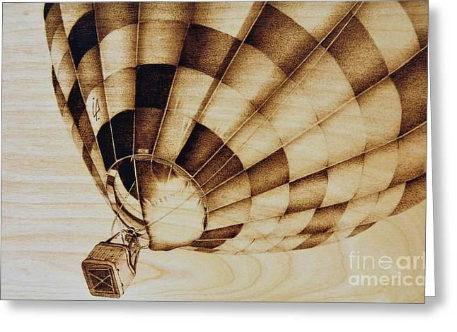 Balloon Pyrography Greeting Cards - Up Greeting Card by Ilaria Andreucci