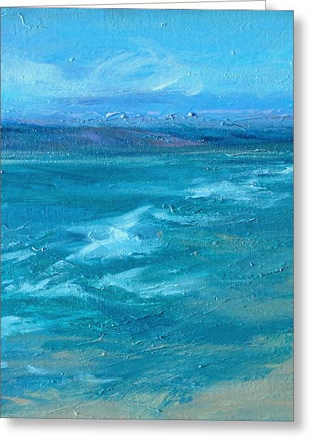 New England Ocean Greeting Cards - Up Island  Greeting Card by Lisa  Ridabock