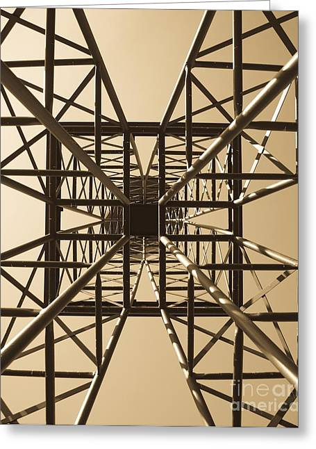 Geometrical Photographs Greeting Cards - Up On All Fours Greeting Card by Charles Dobbs