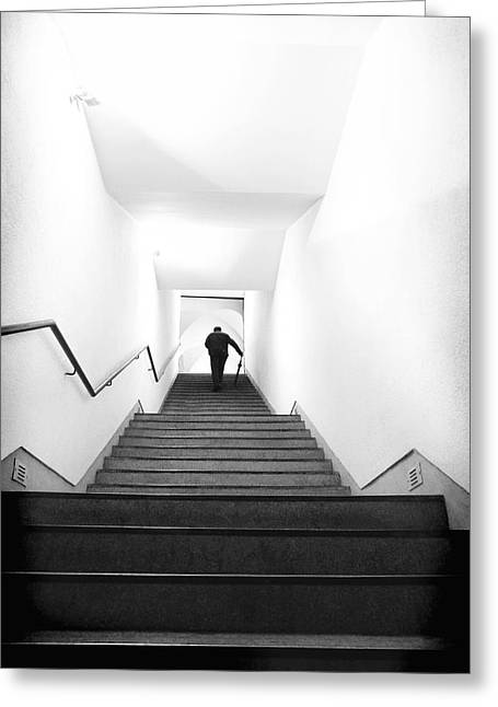 Up Stairs Greeting Card by Artecco Fine Art Photography