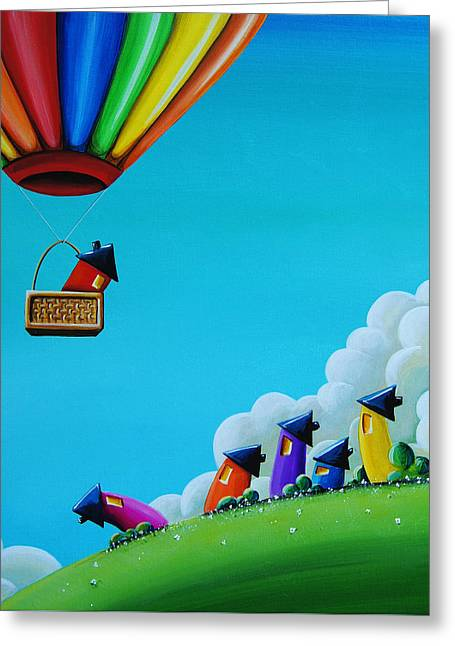 """hot Air Balloons"" Greeting Cards - Up Up and Away Greeting Card by Cindy Thornton"