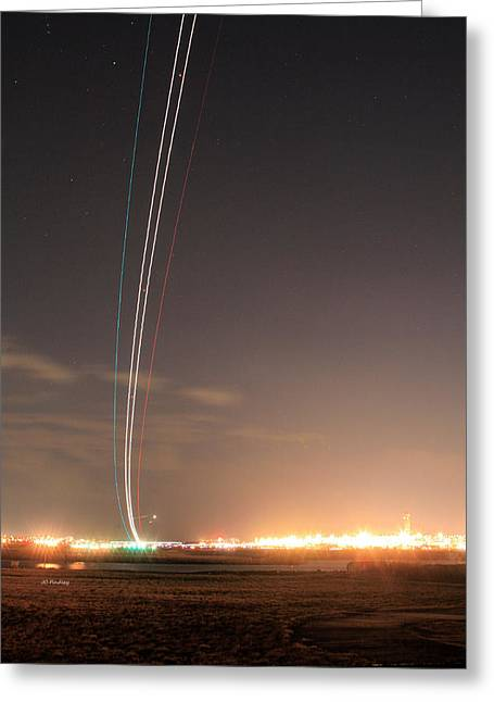 Takeoff Greeting Cards - Up Up and Away Greeting Card by JC Findley