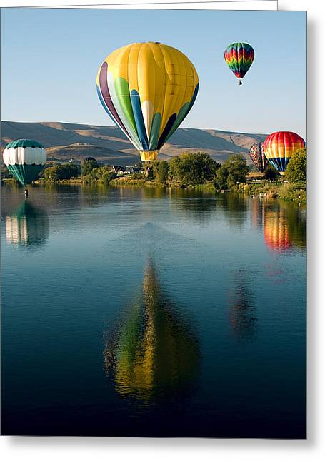 Up Up In The Air Greeting Card by David Patterson