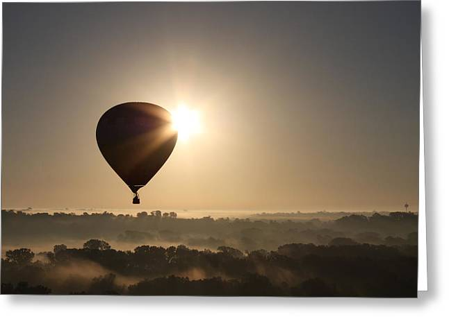 Helium Greeting Cards - Up with the sun Greeting Card by Kimber  Butler