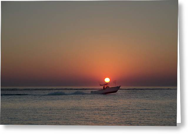 Up With The Sun  Seaisle New Jersey Greeting Card by Bill Cannon