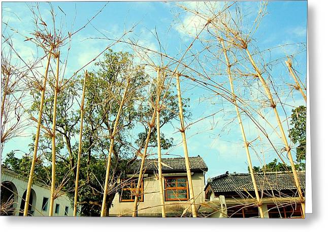 Bamboo House Greeting Cards - Up Greeting Card by HweeYen Ong
