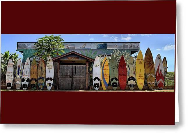 ; Maui Greeting Cards - Upcountry Boards Greeting Card by DJ Florek
