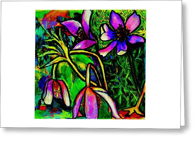 Vivid Colour Mixed Media Greeting Cards - Uplifting Greeting Card by Jo-Anne Gazo-McKim