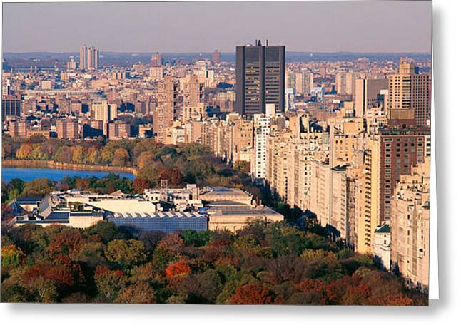 Midtown Greeting Cards - Upper East Side Central Park New York Greeting Card by Panoramic Images