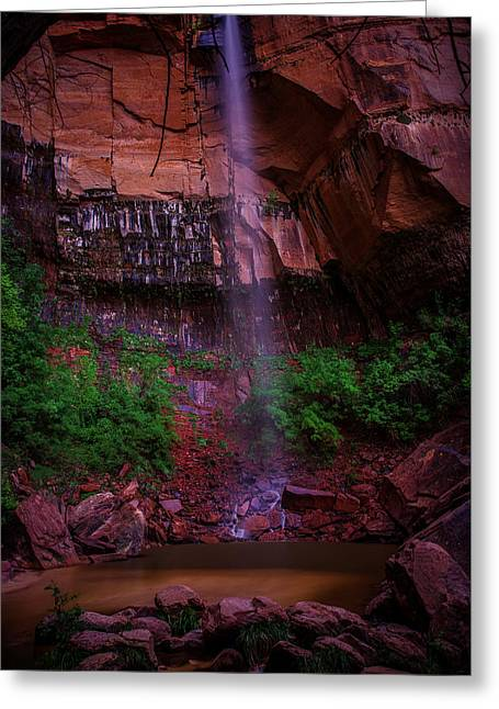 Upper Emerald Pools Fall Zion National Park Greeting Card by Scott McGuire