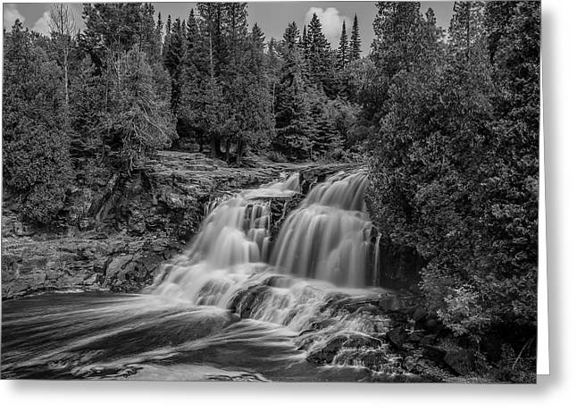 Work Area Greeting Cards - Upper Gooseberry Falls Greeting Card by Paul Freidlund