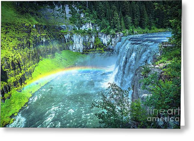 Upper Mesa Falls Greeting Card by Nancy Forehand