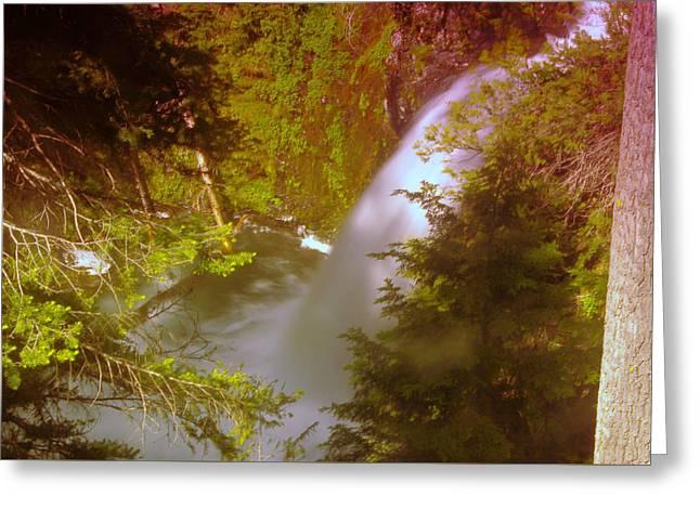 Upper Union Creek Falls  Greeting Card by Jeff Swan