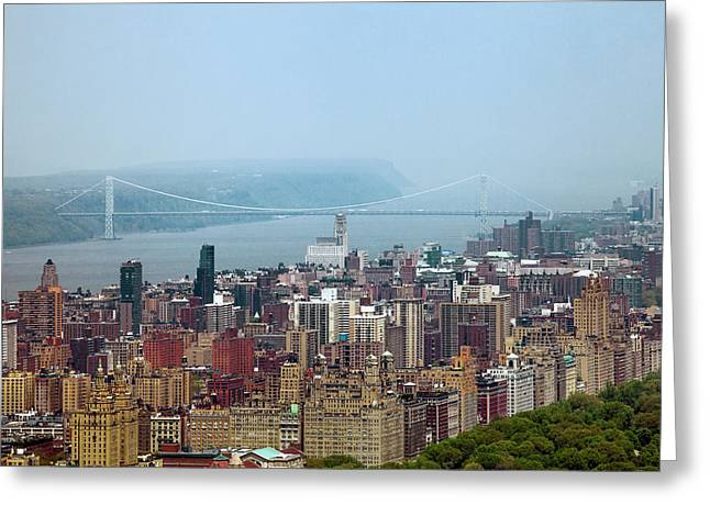 Central Park West Greeting Cards - Upper West Side Greeting Card by Az Jackson