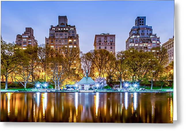 Upper East Side Reflections Greeting Card by Az Jackson