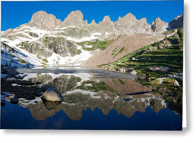 Willow Lake Greeting Cards - Upper Willow Lake Greeting Card by Aaron Spong