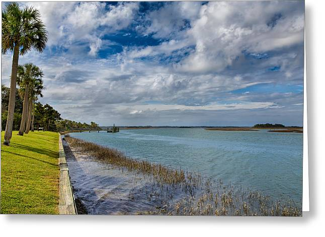 Jacksonville Greeting Cards - Upriver Greeting Card by John Bailey