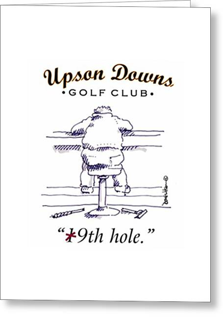 9th Hole Greeting Cards - Upson  Downs 9th Hole Greeting Card by Doug Wilson