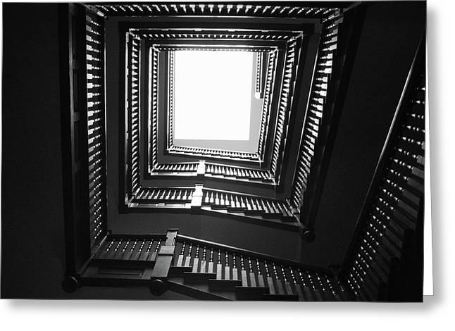Upstairs- Black And White Photography By Linda Woods Greeting Card by Linda Woods