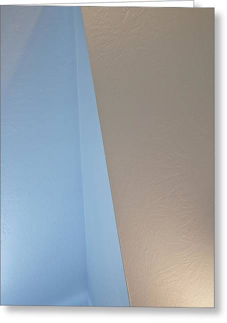 Subdued Hues Greeting Cards - Upstairs Room Abstract 1 Greeting Card by Steve Ohlsen