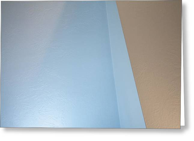 Subdued Hues Greeting Cards - Upstairs Room Abstract 2 Greeting Card by Steve Ohlsen