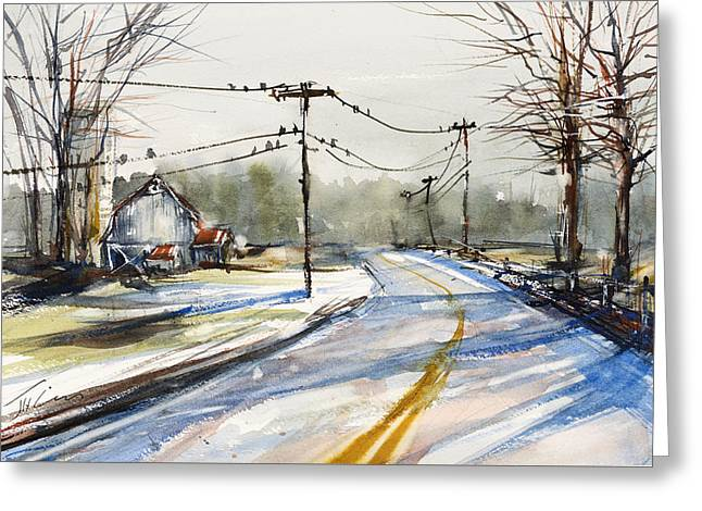 Upstate Ny Sunday Drive Greeting Card by Judith Levins