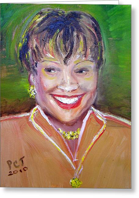 Uptown Woman Greeting Card by Patricia Taylor