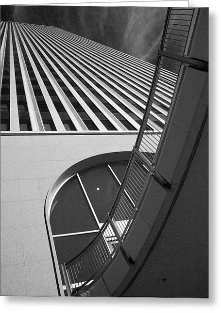 Tulsa Oklahoma. Architecture Greeting Cards - Upward and Outward Greeting Card by William Oswald