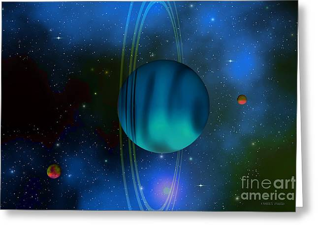 Uranus Greeting Card by Corey Ford