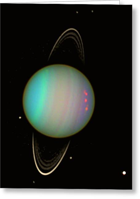 Ring Systems Greeting Cards - Uranus Greeting Card by Nasaesastscie.karkoschka, U.arizona