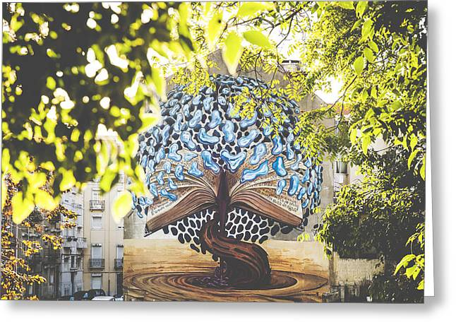 Galeria Greeting Cards - Urban Art by Joao Mauricio aka Violant Greeting Card by Andre Goncalves