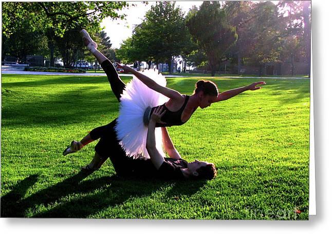 Urban ballet Greeting Card by Chiara Costa