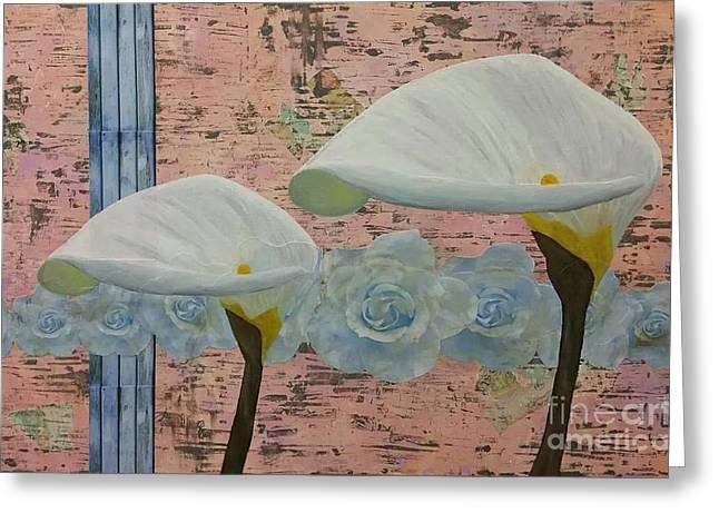 Powder Greeting Cards - Urban Bloom Greeting Card by Misty Rosas