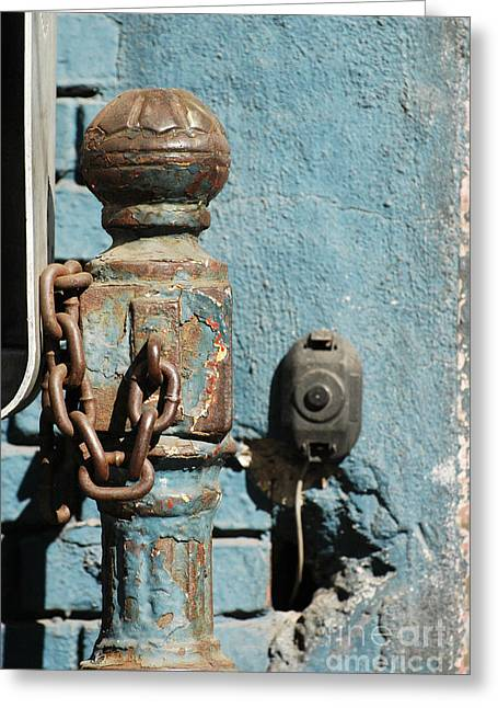Harlem Ny Digital Greeting Cards - Urban Blue Architectural Details  Greeting Card by ArtyZen Studios - ArtyZen Home