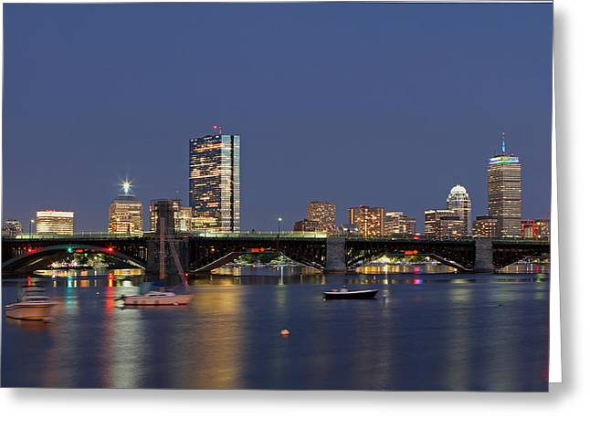 Sailboat Images Greeting Cards - Urban Boston Greeting Card by Juergen Roth