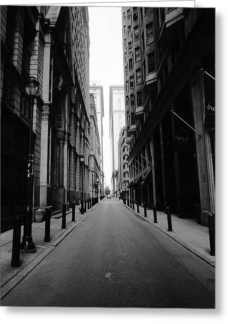 Philadelphia Alley Greeting Cards - Urban Canyon Greeting Card by David Oakill